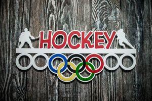 Деревянный держатель для медалей Хоккей
