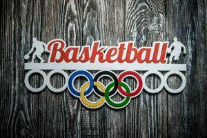 Деревянный держатель для медалей Баскетбол