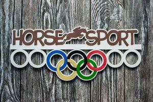 Деревянный держатель для медалей Конный спорт