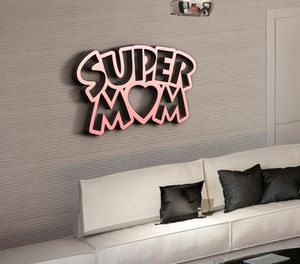 Деревянная фоторамка Супер мама