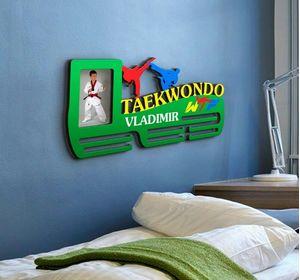 Держатель для медалей Taekwondo с именем
